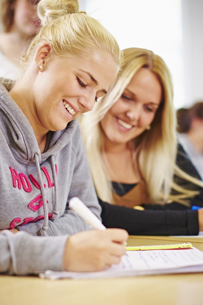 Schüler bei der Arbeit