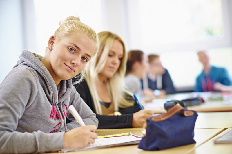 Fleißige Schüler
